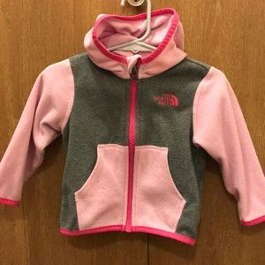 Baby fleece northface/ pink and gray